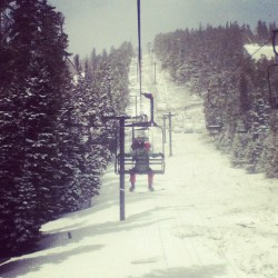 snowing, but sunny. perfect last day at Eldora! (Taken with instagram)