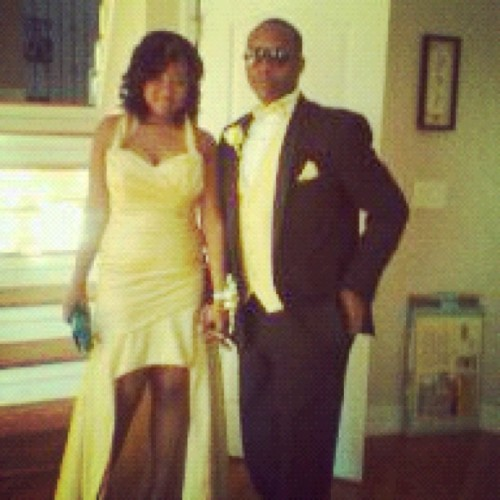 My Lil Bro and his prom date! Kinda blurry 👍👍👍 (Taken with instagram)