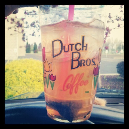 Iced peach black tea :) (Taken with instagram)