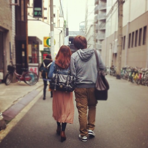♥👫 #love #couple #japan #osaka #school #korean #indonesian #igers #jj_forum #iphonesia #instago #spring #clubsocial #boys #girls #instagramhub #gmy  (Taken with Instagram at 日本語の学校)