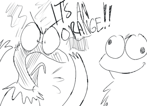 I never thought I would draw Sesame Street characters. But that video was hilarious. (I would have been laughing sooo much at it if my throat wasn't hurting)