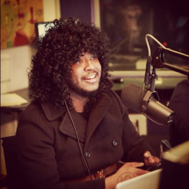 Thundercat stopped by to chat and share some inspirational gems with #KCRW DJ @GarthTrinidad (Taken with Instagram at KCRW)