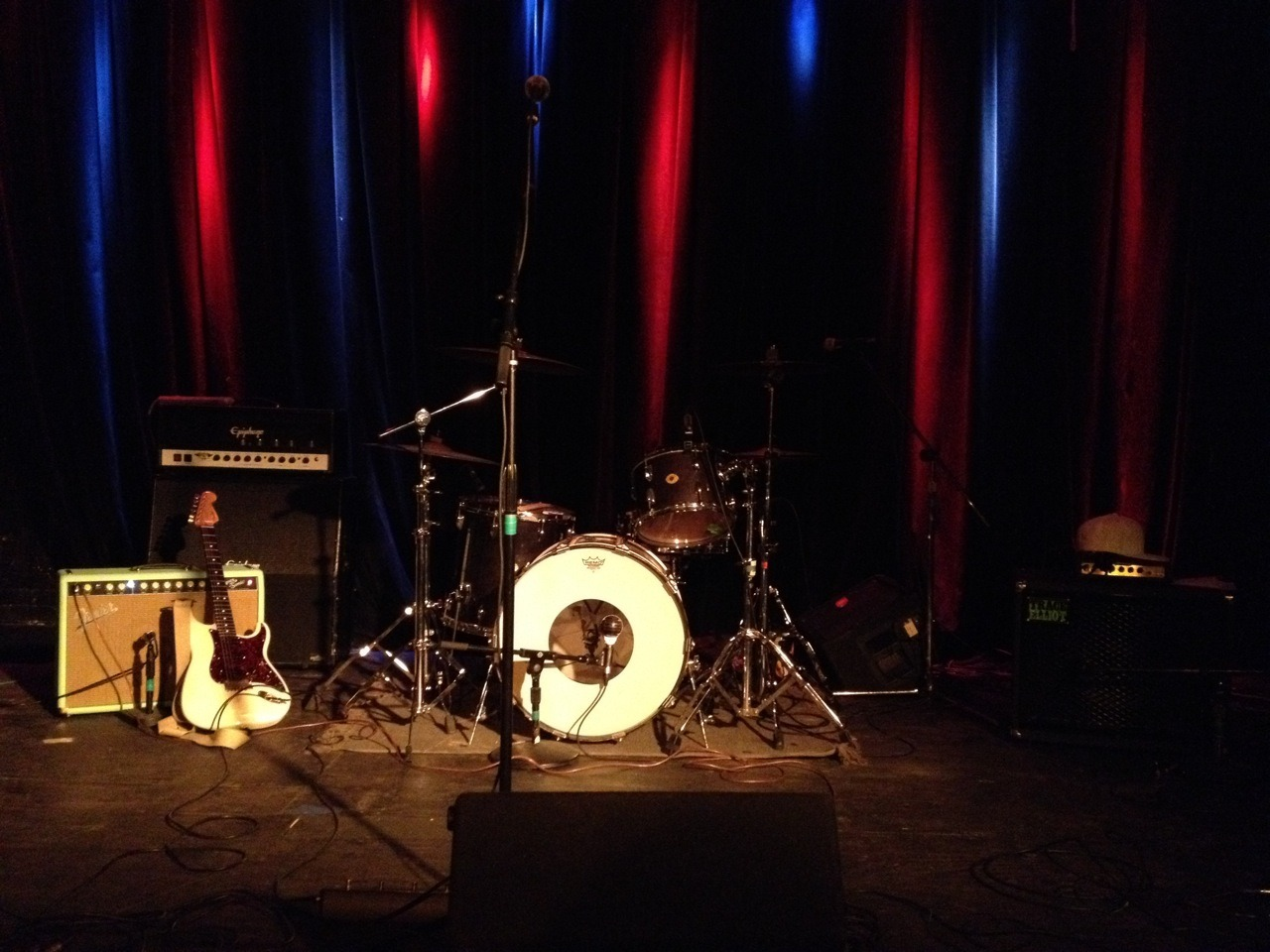 the set stage for Public Assembly show in Brooklyn. -np