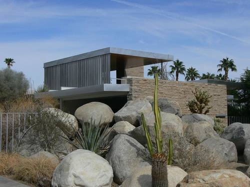 Desert Modernism - Southern california and the american southwest take on the International Style. Features expansive glass and streamlined styling. Palm Springs is famous for this style.