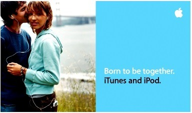 Born to be together. iTunes and iPod.