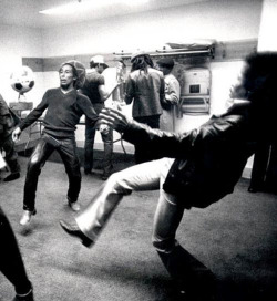 Bob Marley and Jimi Hendrix playing football. Rare Photo