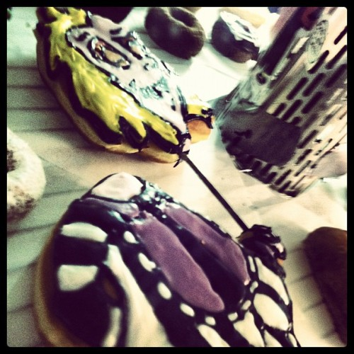 callmemacphisto:  Beetlejuice #cartoon #doughnut #Beetlejuice (Taken with Instagram at Voodoo Doughnut Too)
