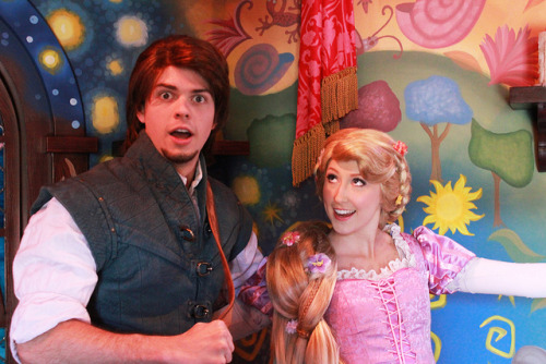 adventuresatdisneyland:  Rapunzel and Flynn on Flickr.