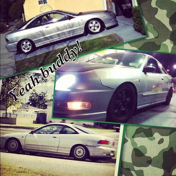 The daily driven #integra #mugen  #mr5s #slipstreams #bottlecaps #jdm #silver #dailydriven #uneek (Taken with instagram)