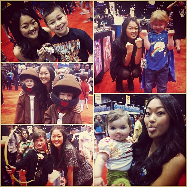 "Looks like Amy Okuda had a great time meeting fans at C2E2 in Chicago this weekend! From Amy's Instagram: ""Hope this is not creepy, but I love kids that come to my booth at cons. SO CUTE AND FUN @c2e2"""