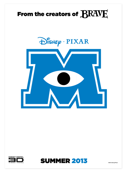 rossagues:  Monsters University - Teaser Poster - 21st June 2013