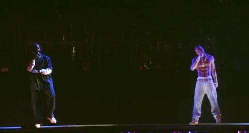 Tupac Hologram Coachella 2012 performance with Dr. Dre and Snoop. #Coachella #Tupac - @earthcrew