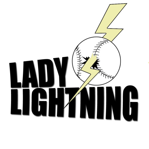 "Did some logo work for a local softball team ""Lady Lightning"""
