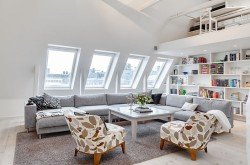 keldecor:  (via Bright Attic Penthouse For Sale in Stockholm | HomeDSGN, a daily source for inspiration and fresh ideas on interior design and home decoration.)