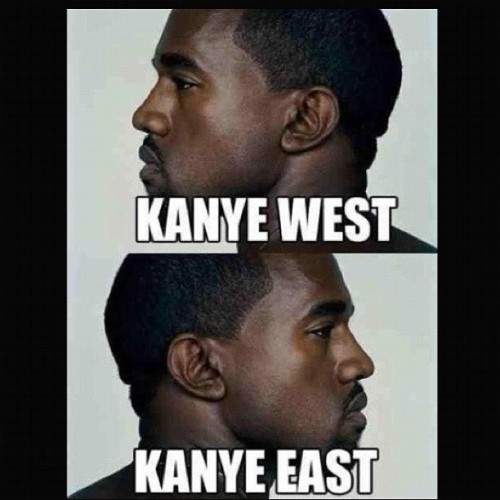 Seems right. - #kanye #west #east #kanyewest #hiphop #rap #watchthethrone #thethrone #dropout #goodmusic #music #lol #comedy #humor #haha #funny #photo (Taken with instagram)
