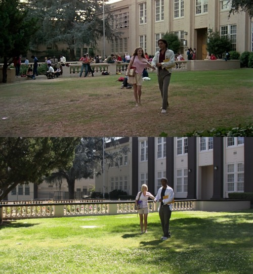 Movie: Fast Times at Ridgemont HighActor: Robert RomanusLocation: Van Nuys High School, Van Nuys, CAWith: Lindsay BlakePhotographer: Bret Kinkele