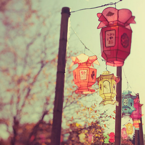 A thousand lanterns by IrenaS on Flickr.