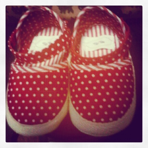 Red Polka Dot Summer Baby Shoes :)