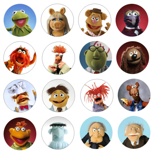 The Muppets 1 Inch Button Magnets available at: http://www.buttonpalooza.com/item/1-inch-magnet-sets/the-muppets-magnets/lid=26037115 $8.49