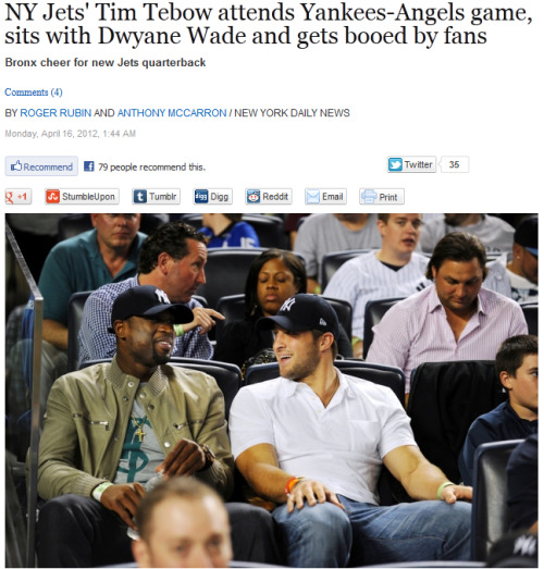 inothernews:  Love or hate Yankees fans, at least they know when to boo. (Photo: Robert Sabo / New York Daily News)