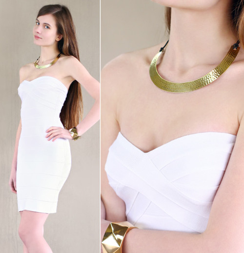 White bandage dress (Giveaway) (by Ariadna Majewska)