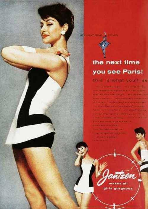 theniftyfifties:  1950s Jantzen swimsuit advertisement.