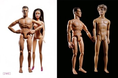 Evolution of Barbie Before: Barbie & Ken. Now: Ken &…Ken Conceptual Photography, Diptychs Series, by Kevin Twomey