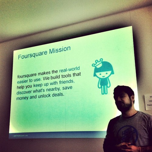 The Mission of Foursquare presented to The Rabbit Agency by Omid Ashtari on #4sqDay (Taken with Instagram at The Rabbit Agency)