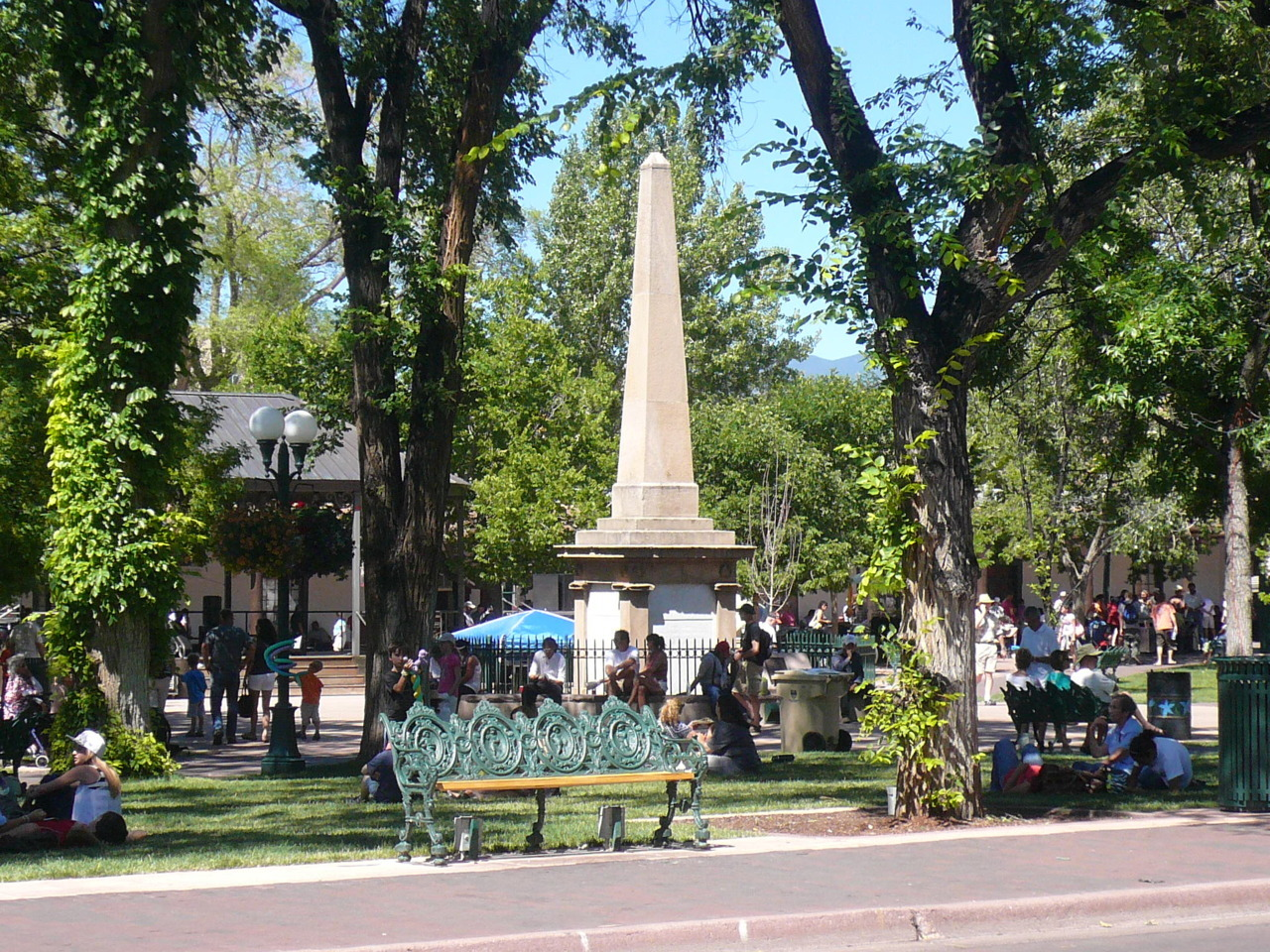 journeyalongroute66:  Santa Fe - Plaza Santa Fe, New Mexico