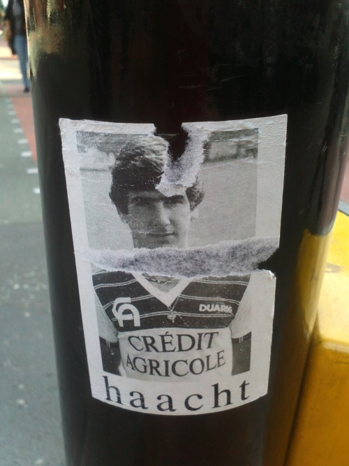 Spotted in Town: I've no idea what Haacht is, but it's a sticker, featuring Eric, found in Manchester.  That'll do for me!