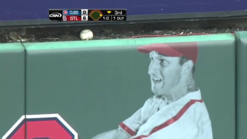 Stan Musial seemed to find Yadier Molina's home run yesterday terrifying