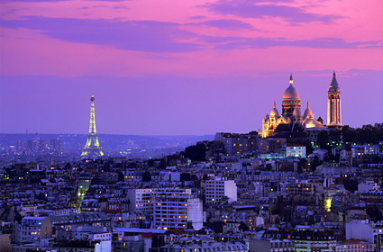 Eiffel Tower and Montmartre