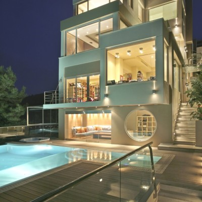 Luxury Oikia Panorama Voulas Villa, Greece via Adelto