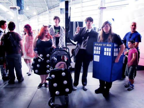 Tenth Doctor, TARDIS, Dalek and Baby Dalek Cosplay at Supanova Melbourne sympatheia:   Supanova Melbourne 14 - 15 April 2012 (x)