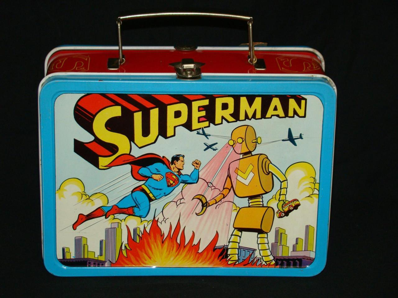 Superman vs Robot lunchbox; 1954Sold for $11,865 at auction.