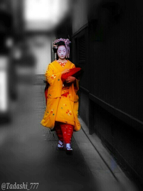 a MAIKO girl(apprentice GEIKO) in KYOTO.  京都祇園の舞妓さん♪