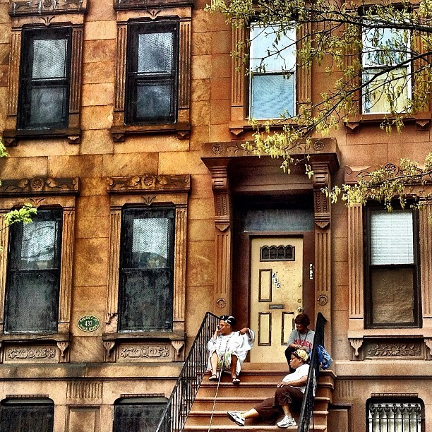 This-is-my-stoop!! Shoooo!! === #Brooklyn #Brownstone (Taken with instagram)
