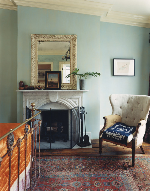 martynthompsonstudio:  Photo: Martyn Thompson Hotelier Sean Macpherson has become known for creating singular, highly theatrical spaces in New York (Bowery and Jane Hotels). His West Village townhouse, featured in Interiors, is no different; overflowing with antiques, curios and marvellous artworks. It's one of our favorite spaces in the book.