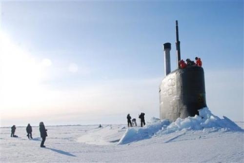 climateadaptation:   As ice cap melts, militaries vie for Arctic edge  - YOKOSUKA, Japan - To the world's military leaders, the debate over climate change is long over. They are preparing for a new kind of Cold War in the Arctic, anticipating that rising temperatures there will open up a treasure trove of resources, long-dreamed-of sea lanes and a slew of potential conflicts.  Nice. I used this same photo in my article for GOOD, which covered Obama's climate adaptation policies.