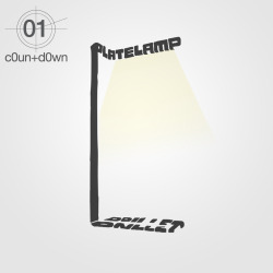 #c0untd0wn -01 for #milan2012 plate lamp, design by florian brillet for ligne roset