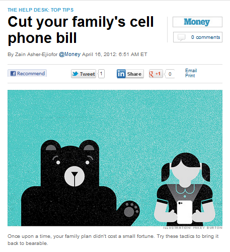CNNMoney wants to make your cell phone bills more 'bearable'.