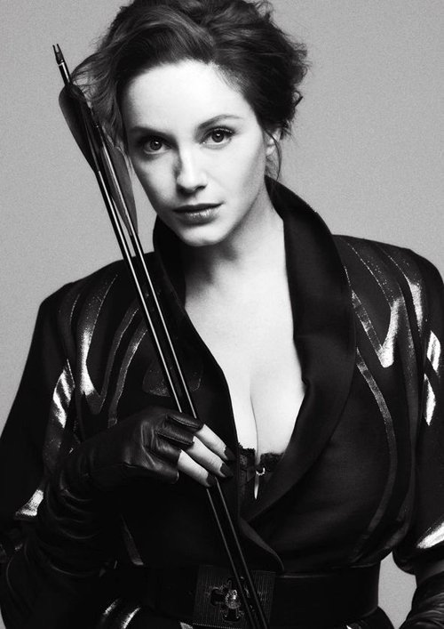 mykindofgirl2000:  Christina Hendricks with her killer beauty + arrow.