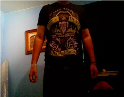 My awesome TDWP shirt I purchased yesterday.