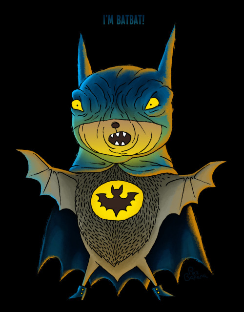 What kind of bat… spends his days dressed up as a bat? - By PEZ BANANA    @ Tumblr / @ deviantart