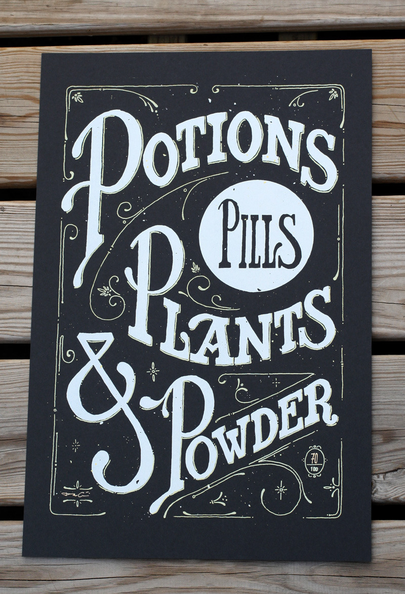 (via Potions, Pills, Plants & Powder | grayhood graphic design & illustration)