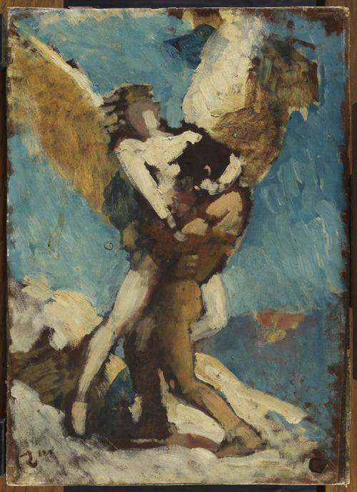 notorious-world:  Jacob et l'Ange by Léon bonat