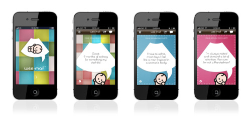 Wee Mail app. Get messages from your unborn child every day of your pregnancy. (Click image to download the free app.)
