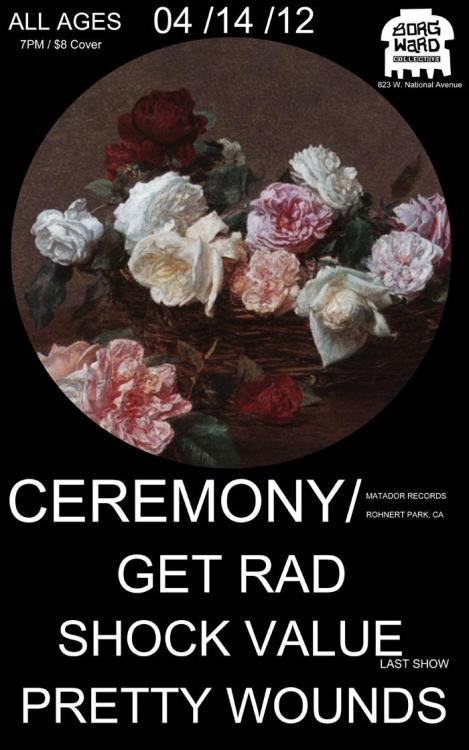 We caught Ceremony's crushing performance at Milwaukee's DIY Borg Ward this weekend, and got to talk to the band for quite a while. A review/interview to come this week. You've been warned.
