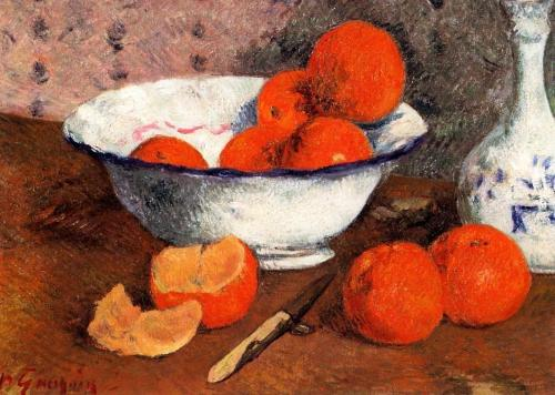 Still Life with Oranges Artist: Gauguin