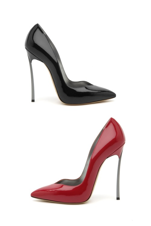 Blade Pumps in Black & Red by Casadei.
